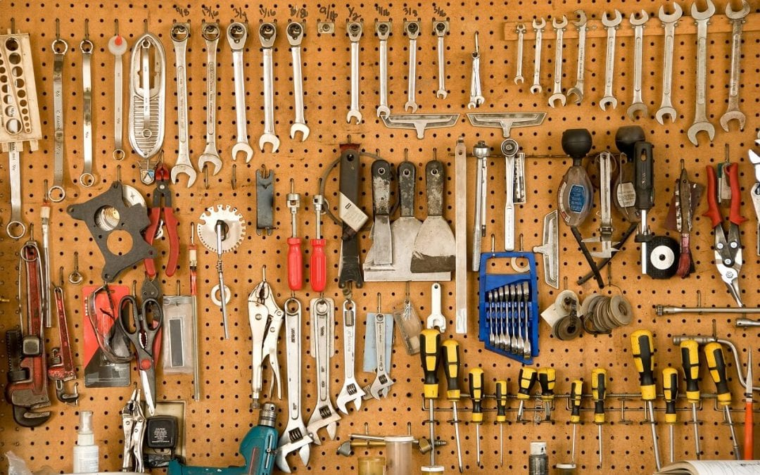 pegboard is an excellent choice for garage storage